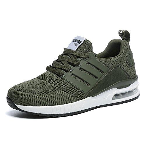 tqgold Herren Damen Sportschuhe Laufschuhe Bequem Atmungsaktives Turnschuhe Sneakers Gym Fitness Leichte Schuhe (Grün,Größe 40)