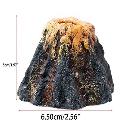 Jason Pitman Harz Vulkan Unterwasser-Animation Landschaft Sauerstoffpumpe Luftblase Stein Dekoration Taucher Pneumatic Aquarium Ornament (Color : A Approx. 7x7x5cm, Size : As Show Picture)