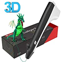 3D Pen, Tecboss 3D Intelligent Drawing Printing Pen with 2 Pack PLA Filaments, Arts CraftsDIY Gifts Toys for Kids Adults
