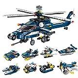 DYMAS Puzzle Spielzeug Aufklärung heißen militärischen Sturm bewaffnet Hubschrauber acht Puzzle-Einheit Bausteine-Spielzeug 1801