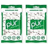 (2 Pack) - Pur Gum - PUR Gum Spearmint Gum Bag | 80g | 2 PACK BUNDLE