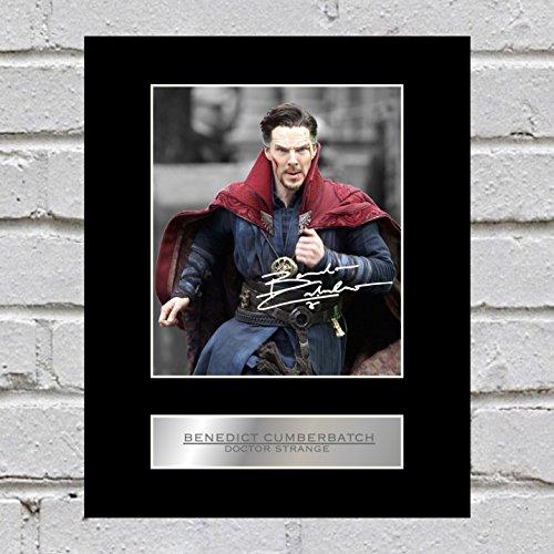 Foto-Display von Benedict Cumberbatch als Doctor Strange aus Sherlock Holmes, signiert
