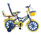 Splash From Outdoor Bikes 14 Inches Bicycle For 3 to 5 Years Kids With Double Seat (Assembly Required) (Blue Yellow)