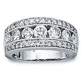 Alliance Diamant en or blanc 14K (2.00carats, H-I i1)