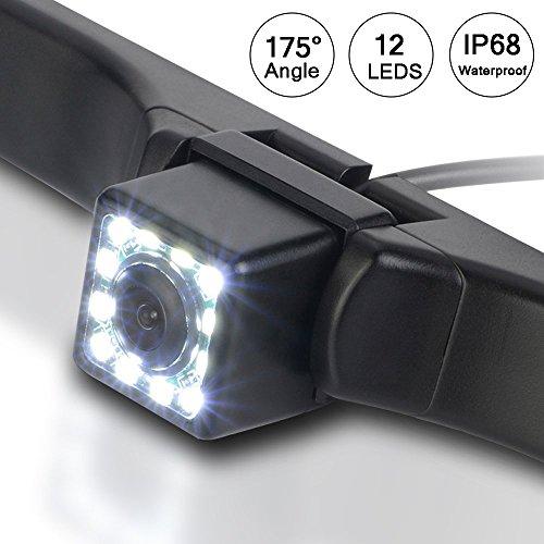 Universal-backup-kamera (Auto-Backup Kamera, MaiYi Universal 175 ° Weitwinkel 12 LED Nachtsicht HD Rückansicht sichern Kamera für alle Auto)