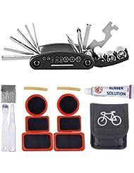 16 en 1 Outil-Multifonctions Kit de Pneu pour Vélo Réparations / Outils Multi-usage pour Crevaison Réparation