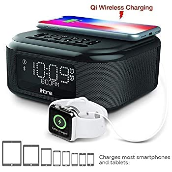 iHome IDL46BE Lightning Dock Clock Radio and USB Charge: Amazon in