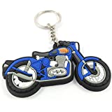 Key Era Royal Enfield Bullet Bike Blue Colour Rubber Keychain & Keyring For Bikes, Cars, Bags, Home, Cycle, Men, Women, Boys And Girls