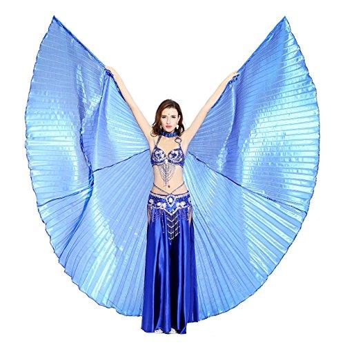 Preisvergleich Produktbild Dance Fairy marineblau Bauchtanz Isis Flügel ,Einschließlich Stöcke / Rute