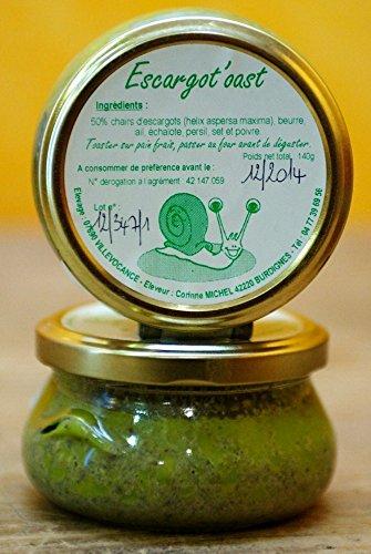 Escargot'oast ou escargotine artisanale, tartinable à base de chair d'escargot, 140g