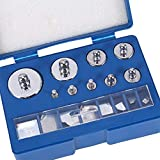 Pesi di Calibrazione, 17 Pezzi Grammi Bilancia Peso di Calibrazione ad Acciaio Kit 10MG-100G Precisione Deviazione +/-0,003g + Pinzette Scatola di Trasporto per Bilancia Digitale Gioielli Laboratorio