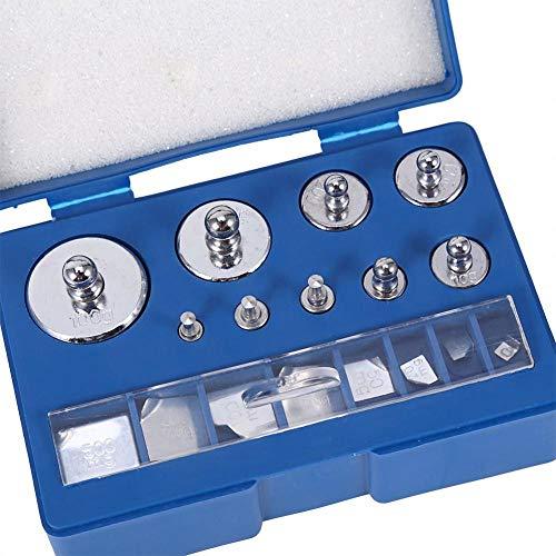 Pesos de calibración, 17 piezas, juego de peso de calibración 10 mg - 100 g de precisión, desviación de calibración +/-0,003 g para joyas digitales, básculas de laboratorio, pesos de estudio