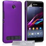 Yousave Accessories - Carcasa híbrida para Sony Xperia E1, color morado