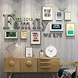 Foto an der Wand Bilderrahmen Wand Bilderrahmen Kombination Restaurant Schlafzimmer Flur Wohnzimmer Sofa Hintergrund Wand (Farbe : B)