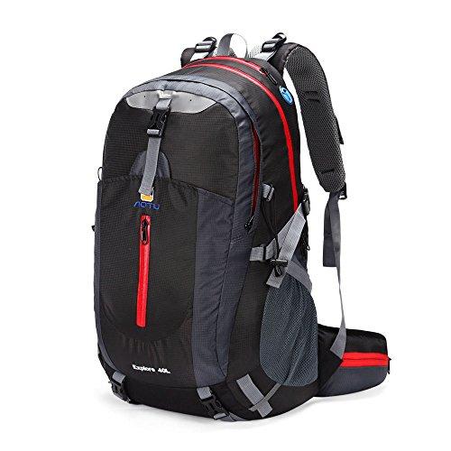 Docooler 40L wasserdichte Outdoor Reise Rucksack Bergsteigen Tasche Camping Wandern Ranzen mit Regenabdeckung 2