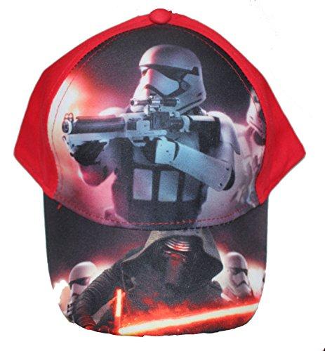 Disney Star Wars Jungen Cap Kappe Schirmmütze (52, Rot)