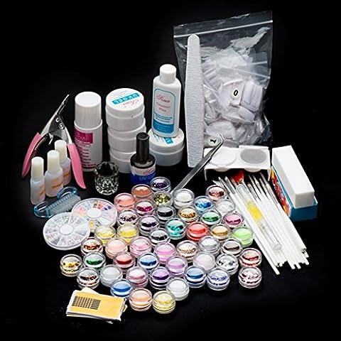 OverDose 27 acrylique ongles art conseils en poudreÉclat de pinceau liquideapprêt clipperEnsemble de fichiers