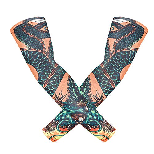 tzxdbh Unterstützung benutzerdefinierte/EIS Seide Sonnencreme Manschette Reiten im Freien Blume Arm Tattoo Tattoo Männer und Frauen Arm s