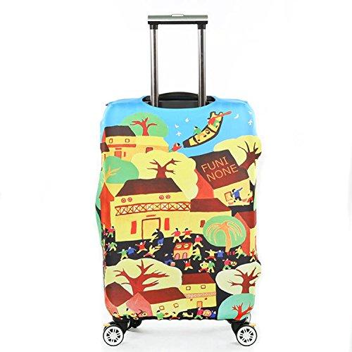 Dometool Reise Gepäck Bezug Koffer Schutz Tasche Polyester Spandex Stretch Stoffbezug 18-32 Zoll Style 3