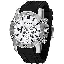 Time100 W70113G.02A Fashion Reloj pulsera de curazo cronógrafo para hombre, con funciones diferentes
