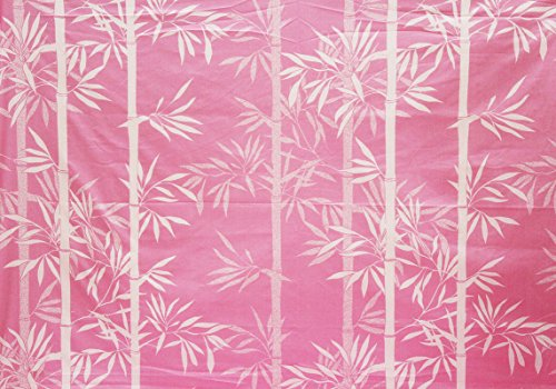 AURAVE Reversible Bamboo Leaves Pattern 1 pc Cotton Dohar - PINK - Single Size (Gift Pack)