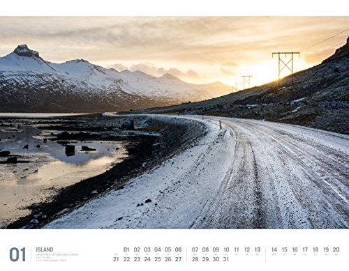 Island 2019, Wandkalender im Querformat (54x42 cm) - Reisekalender mit Monatskalendarium (Reisen mit allen Sinnen): Alle Infos bei Amazon