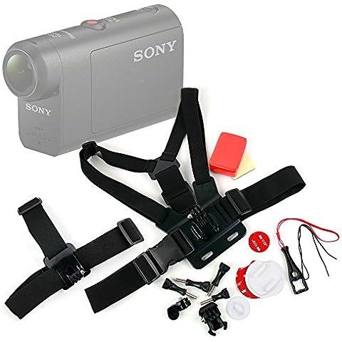 Exclusivo Kit de accesorios para cámaras deportivas Sony HDR-AS50 / Kaiser Baas X150 / Eken H9 - DURAGADGET