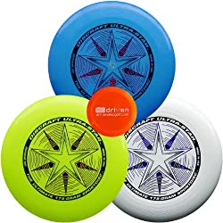 Discraft Ultimate Disc Bundle - Set Of 3 175g Ultra Stars (White - Yellow - Blue Sparkle)
