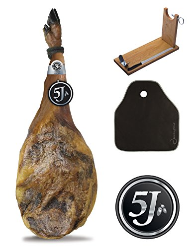 Pata Negra Schinken (Vorderschinken) 100% Iberico aus Eichelmast Cinco Jotas (5J) 4,5-5,5 Kg +...