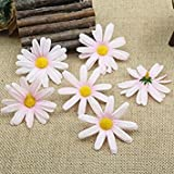 20pcs/lot 6CM Silk Flower Daisies Flower Heads