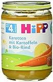 Babynahrung Hipp Karotten mit Kartoffeln und Bio-Rind