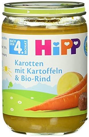 Hipp Karotten mit Kartoffeln und Bio-Rind, 6-er Pack (6 x 190 g) - Bio