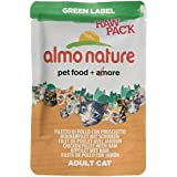 Almo Nature Cat Food Green Label Raw Pack Chicken Fillet with Ham, Pack of 24 x 55g