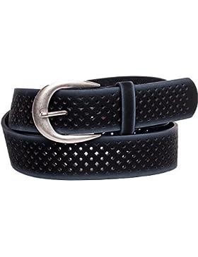 Mujer Cinturón de piel lavable, diseño vintage de se puede acortar de 3,8cm de ancho kamari08