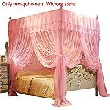 ' Yunt Moskitonetz Viereckiges Mückennetz für Doppelbetten Hoche Qualität Fliegennetz Insekten Malaria Schutz Aufhängekit Himmelbett Betthimmel Vorhänge, 150 * 200cm (Ohne Halter)'...