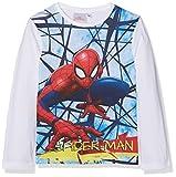 Marvel Spiderman Super Hero, Camiseta para Niños, Blanco Optic White, 8 Años