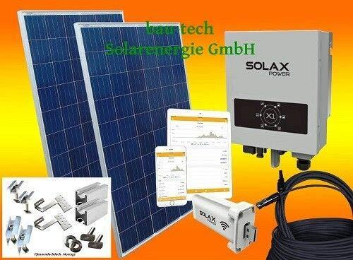 bau-tech Solarenergie 2000Watt Solaranlage Photovoltaikanlage Eigenverbrauch Plug & Play mit Montagematerial für Pfannendach