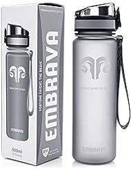 Fantástico Bidón Deportivo – 500ml Pequeño - Eco & Sin Plásticos BPA – Rápido Flujo Agua, Tapa Abatible, Abre Con 1-Click