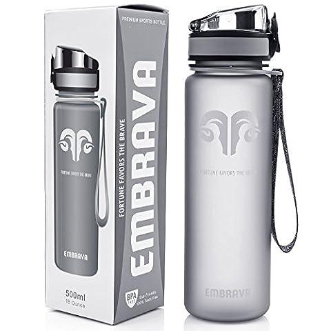 La Meilleure Bouteille de Sport – Petite Taille 500ml – Éco-Responsable Et Sans BPA – Débit Rapide, Couvercle Rabattable, Ouverture En Un Clic
