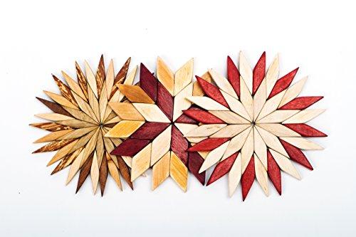ndgefertigte Holz Untersetzer für heiße Teller-Durchmesser 16,5cm-Untersetzer und Hot Pads-Tolles Küche Geschenk Idee-von SPL Woodcraft Ukraine ()
