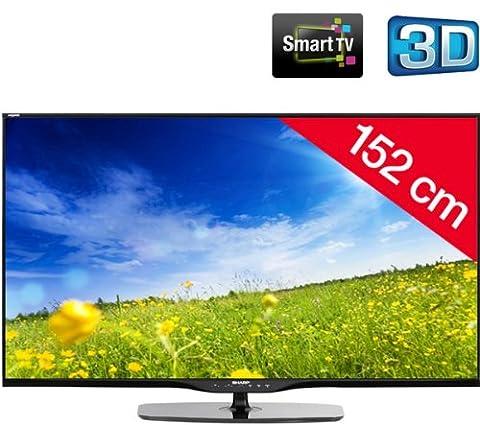 SHARP AQUOS 60LE651E - black - LED-backlit 3D Smart TV + AN-3DG20-B 3D Glasses - (Sharp Aquos)
