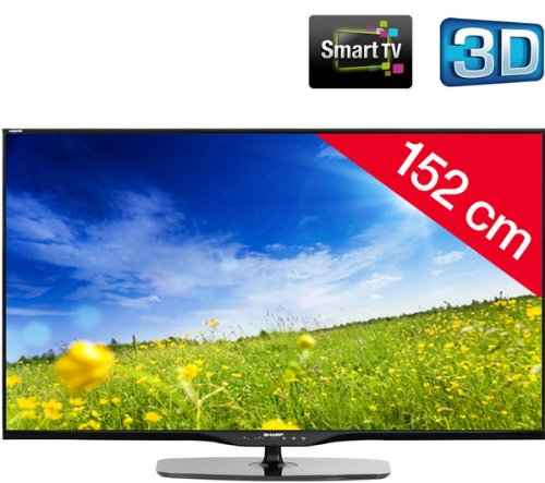 SHARP AQUOS 60LE651E - black - LED-backlit 3D Smart TV + AN-3DG20-B 3D Glasses - black