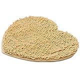 Pormow Chenille in Herzform Fußmatten Anti-Rutsch Wasserabsorbierenden Matten Teppiche für Wohnzimmer/Schlafzimmer/Bad/Küche