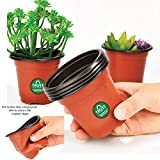 #6: TrustBasket Nursery Plastic Pot 5 inch - Set of 20 Pots