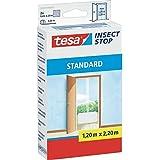 tesa Insect Stop Fliegengitter STANDARD für Türen 2x 0,65m x 2,20m (2er Pack, Weiß)