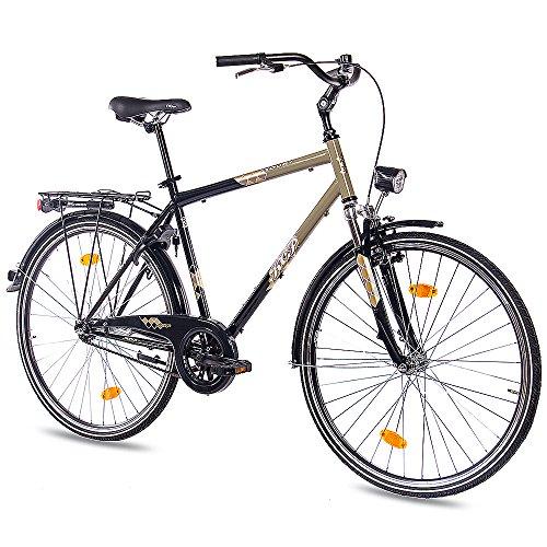 "KCP 28\"" Zoll City Bike Cityrad Herrenrad Fahrrad TOURY 1G RÜCKTRITT schwarz Oliv"