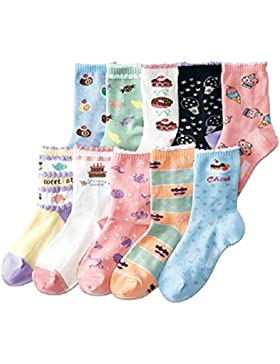 JT-Amigo Pack de 10 Pares de Calcetines de algodón para Niñas