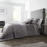 Best Simple Luxury duvet cover - Happy Linen Company Crushed Velvet Wave Effect Panel Review