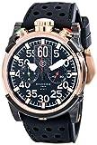 CT Scuderia hommes de luxe 44mm en silicone noir bande cas plaqué or rose montre analogique à quartz CS10103