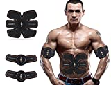 Cinturón de entrenamiento de los músculos abdominales a través de EEM (estimulación eléctrica muscular). Estimulador muscular eléctrico para los músculos del abdomen/brazo/pierna, entrenamiento portátil casa/oficina, equipo de entrenamiento adicional para hombres y mujeres